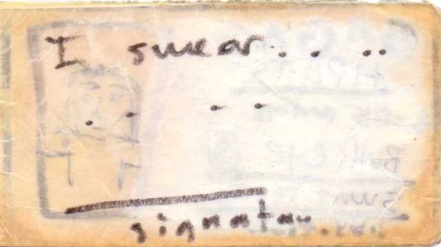 Willemain reverse S. Rabins G.A.G.A.G. membership card1994