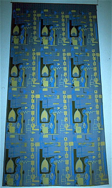 Tricia Lane - ' Dystopia' - 1995; silk screen print on fabric