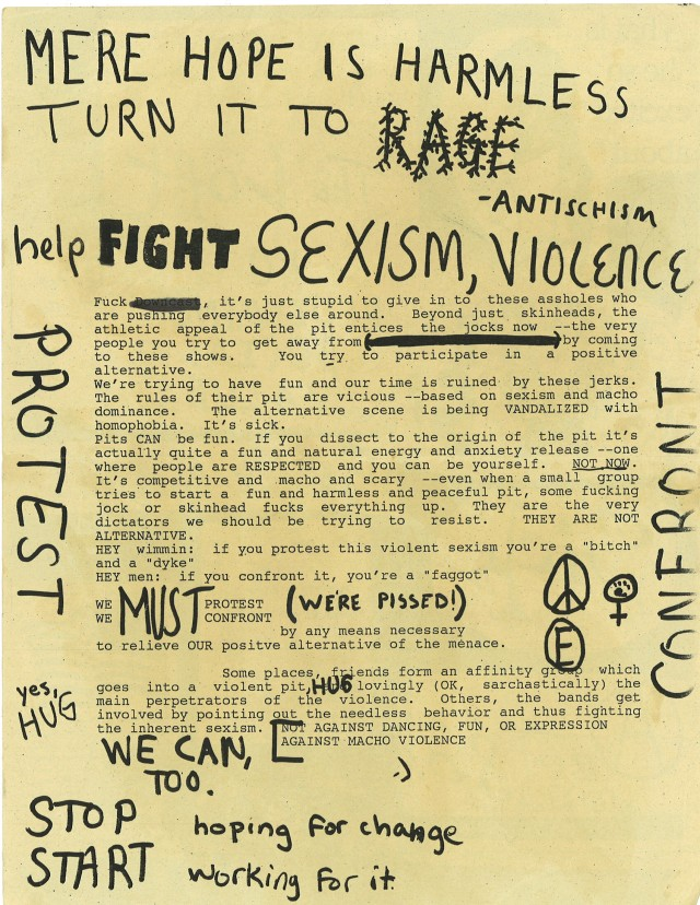 anti violence flyer by matt bray