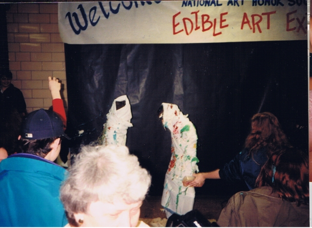 Lou Thomas and Spence edible art 3 feb 94