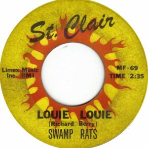"An original 45 rpm 7"" by  ultra-aggro/noise laden 60's punks The Swamp Rats, one of Within's main influences"