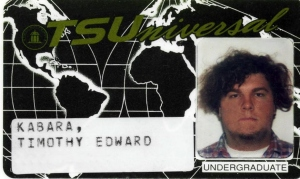 writer Tim Kabara's 1994 Towson State University i.d. card (courtesy of Tim Kabara)