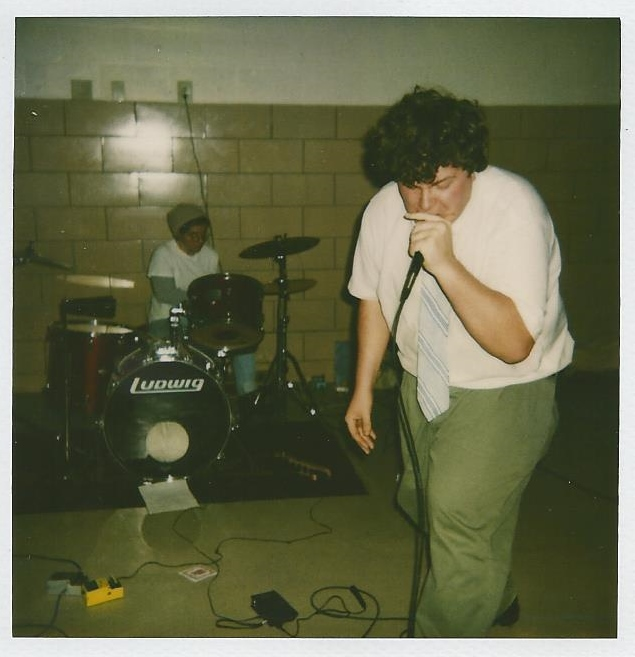 Within live in 1995 at Powhattan Fire Hall in the Annapolis, Md. suburbs; l-r, Lisa Starace and Tim Kabara (photo by Tricia Lane or John Corcoran; courtesy of Tim Kabara)