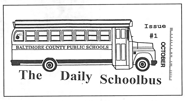 the logo from the Daily Schoolbus zine; designed by Spence Holman; October 1994 (courtesy of Spence Holman)