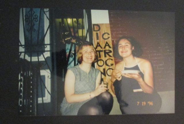 melissa fatto and tricia - SOWEBO art opening photo 1996