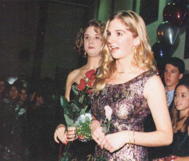 tgaf Laura Norman (author of Find A Green Crayon 1996 Sequel) w. Demi Krympton DHS Homecoming 1995