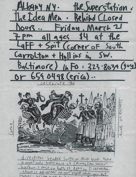 Superstation March 21st laff n spit death flyer