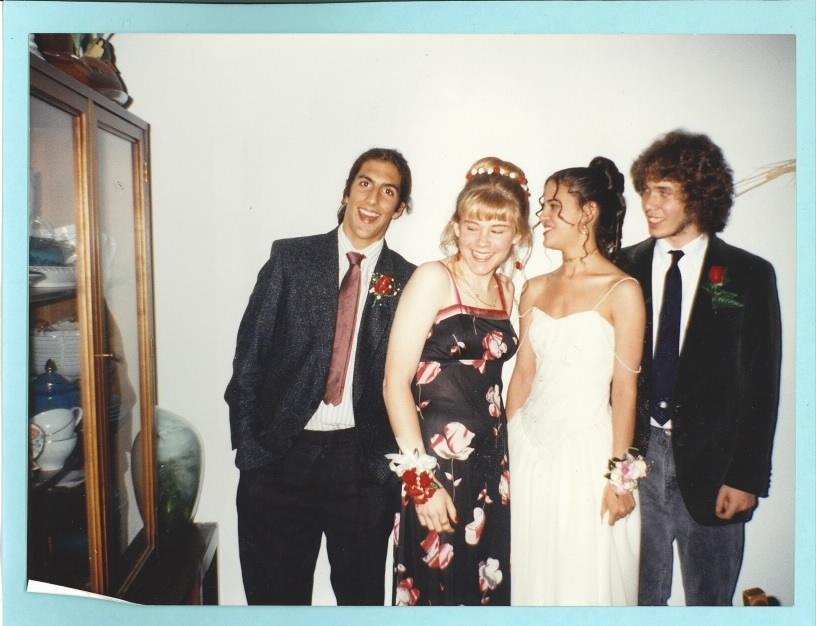 Jon Woodstock Karen Schunk and Tricia Lane-Forster at prom1992 (2)